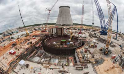 Georgia Power is building two new reactors in eastern Georgia at Plant Vogtle. Vogtle units 3 and 4 are now under construction and are expected to be up and running in 2017 and 2018. Photo courtesy: Georgia Power