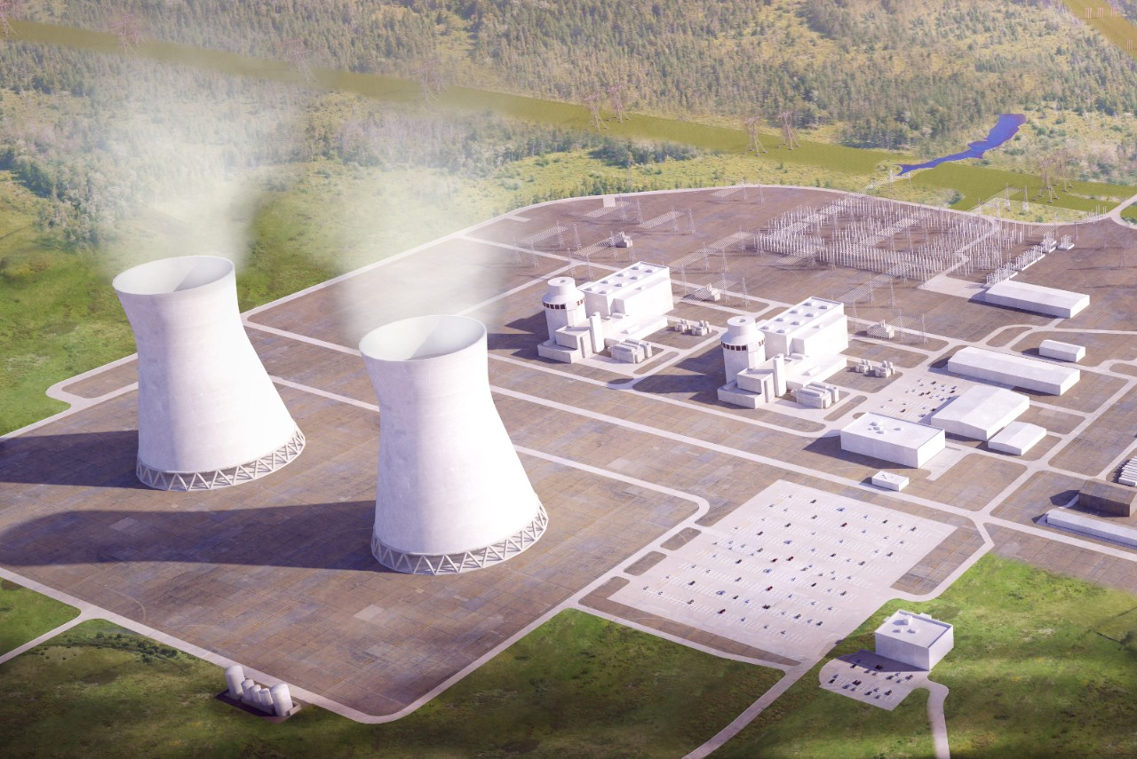 rendering Vogtle Units 3 and 4.
