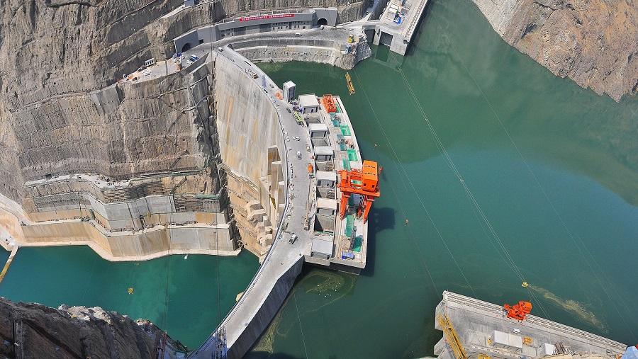 Wudongde hydro dam