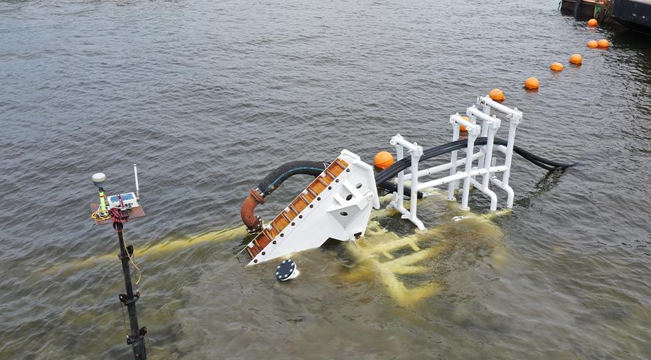 underwater transmission line trenching sled